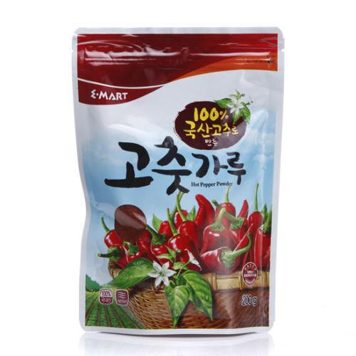 Korean Emart Red Chili Pepper Powder Falskes gochugaru 200g (around 0.44 lb)