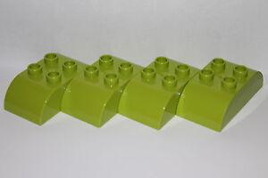 Lego Duplo 10 Stück hellgrüne Steine 2x3 hell grün bright green 6 Noppen Neu