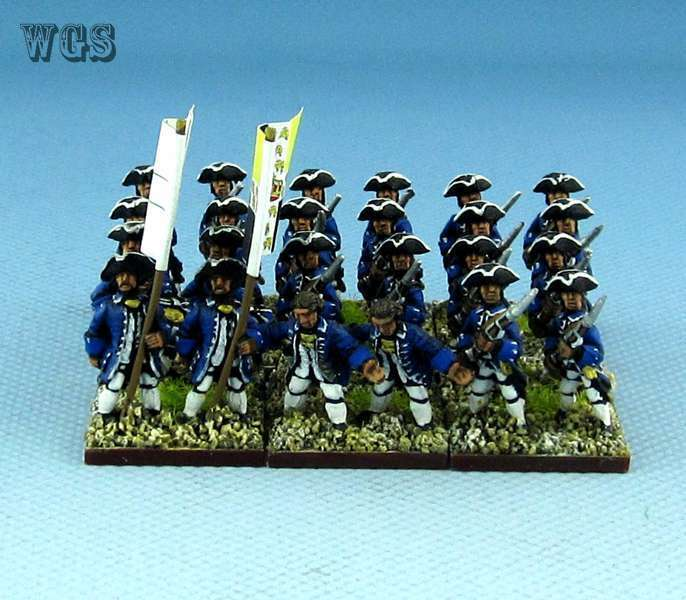15mm SYW Seven Years War WGS painted French 30th Gardes Lorraines regiment Fa2