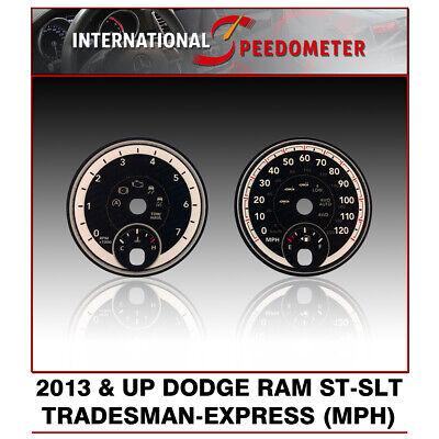2013 /& Up Dodge Ram GAS ST//SLT//Tradesman//Express Speedo 3D Faceplate MPH