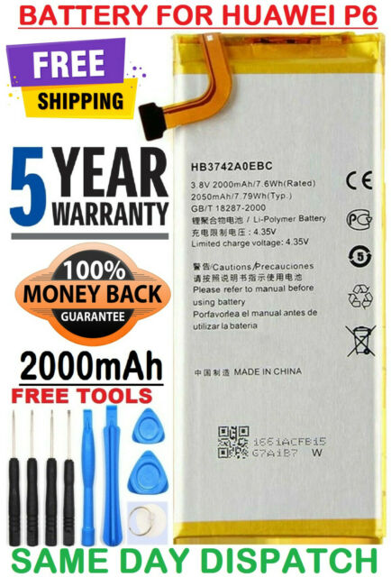 for Huawei Ascend SnapTo G620-A2 H891L Replacement Battery HB3742A0EBC Free Adhesive Tool