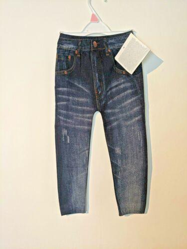 Filles Denim Look Jeggings By AVON 1 2 ans stretch bleu marine