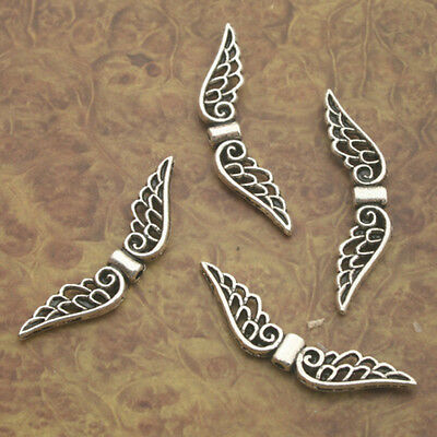 30pcs Tibetan Silver angel wing Charm pendants X0190