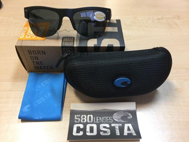 50f946f0a6ab Authentic Costa Del Mar Sunglasses Pawleys Pw-11 Black / 580p Gray Lenses