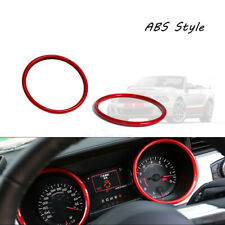 2pcs Sport Red Dash Speedometer Rings Cover Sticker For Ford Mustang 2015 2020