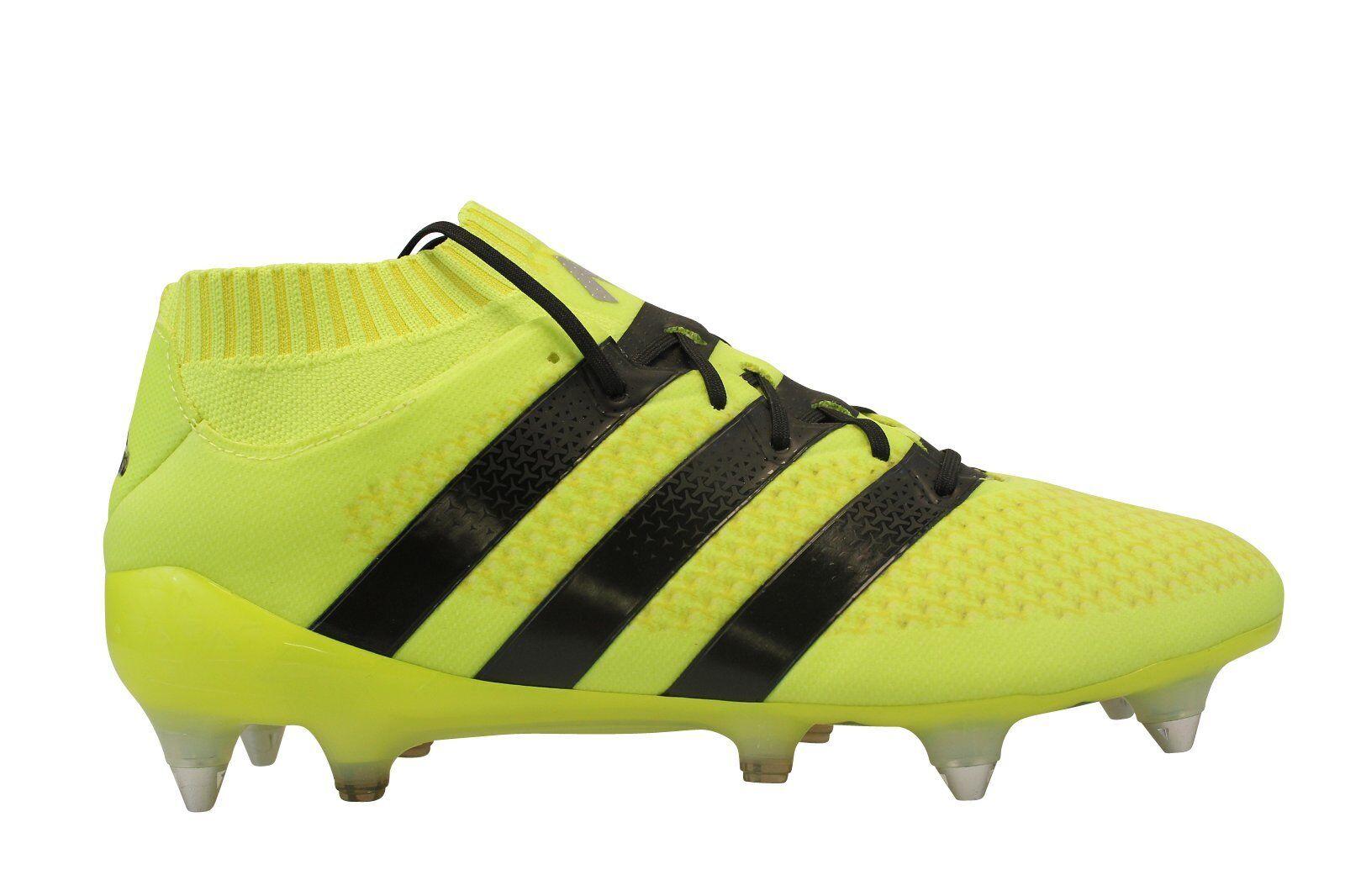 ADIDAS ACE 16.1 PRIMEKNIT SOFT SG FOOTBALL BOOTS YELLOW SIZE AQ3458 NEW