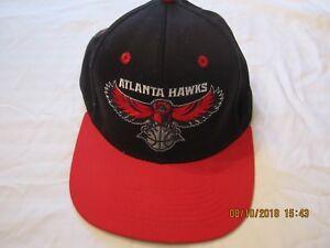 28644ff300db9 ADIDAS Blue w  Red Flat Brim Atlanta Hawks Baseball Cap Basketball ...