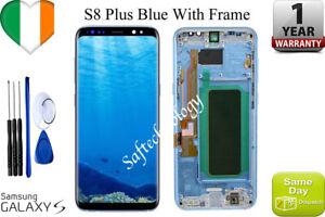 Original-Samsung-Blue-Galaxy-S8-PLUS-G955f-LCD-Touch-Screen-Display-Frame
