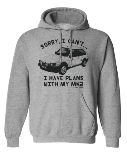 Sorry..I Have Plans With My MK2 Fiesta XR2 Mens CAR Hoodie Retro Classic