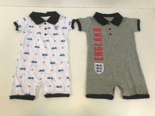 0-6 mois-diverses couleurs-NEUF Angleterre Football Kids Babygrow