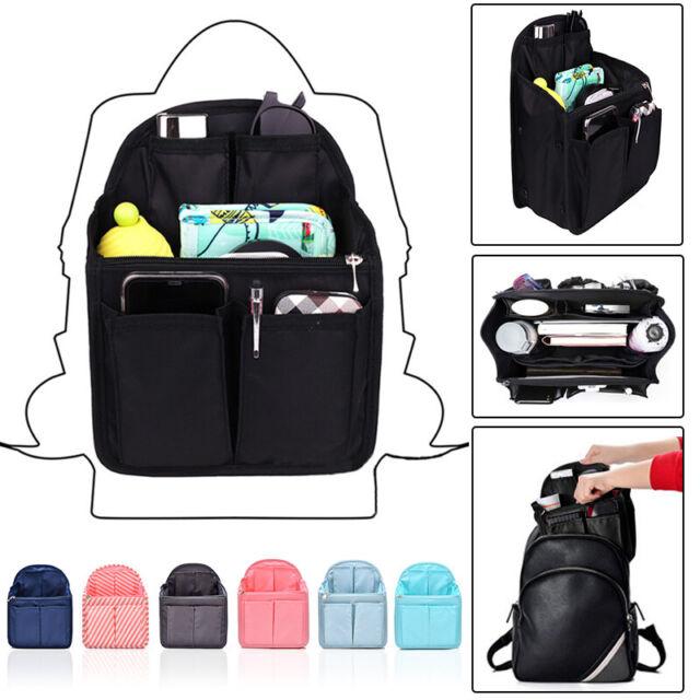 0a673aa97b6a Backpack Insert Bag in Bag Organizer Shoulder Rucksack Bags Handbag Multi  Pocket