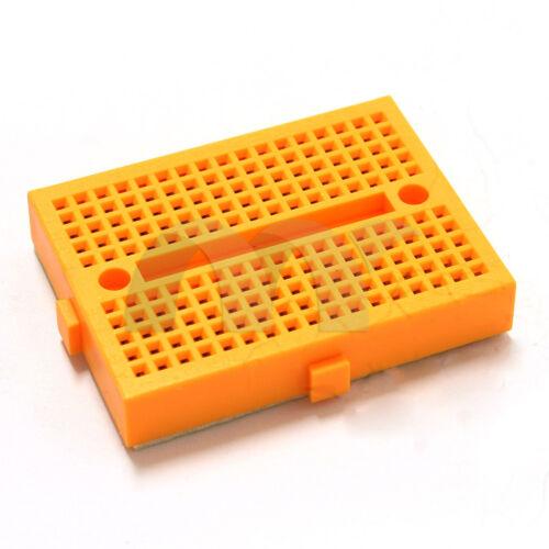 Yellow Mini Solderless Breadboard 170 Tie Point BB170 Test Develop DIY