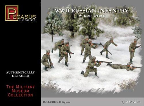 PEGASUS  1//72 Russian Infantry Winter Dress WWII Set #1  PGS7269