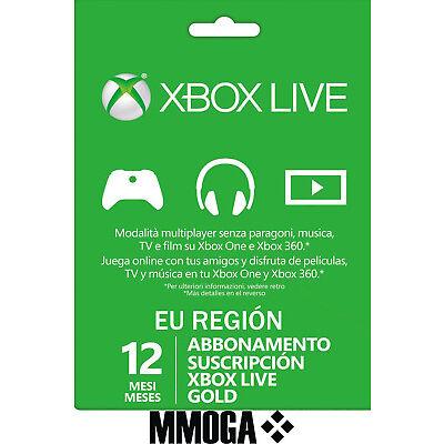 SuscripciónXbox Live Gold De 12 Meses - Xbox One Xbox 360 Código Digital - ES