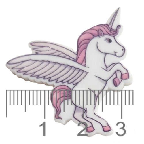 5pcs Flying Wings Unicorn Flatback Acrylic Cabochons Embellishment Decoden Craft