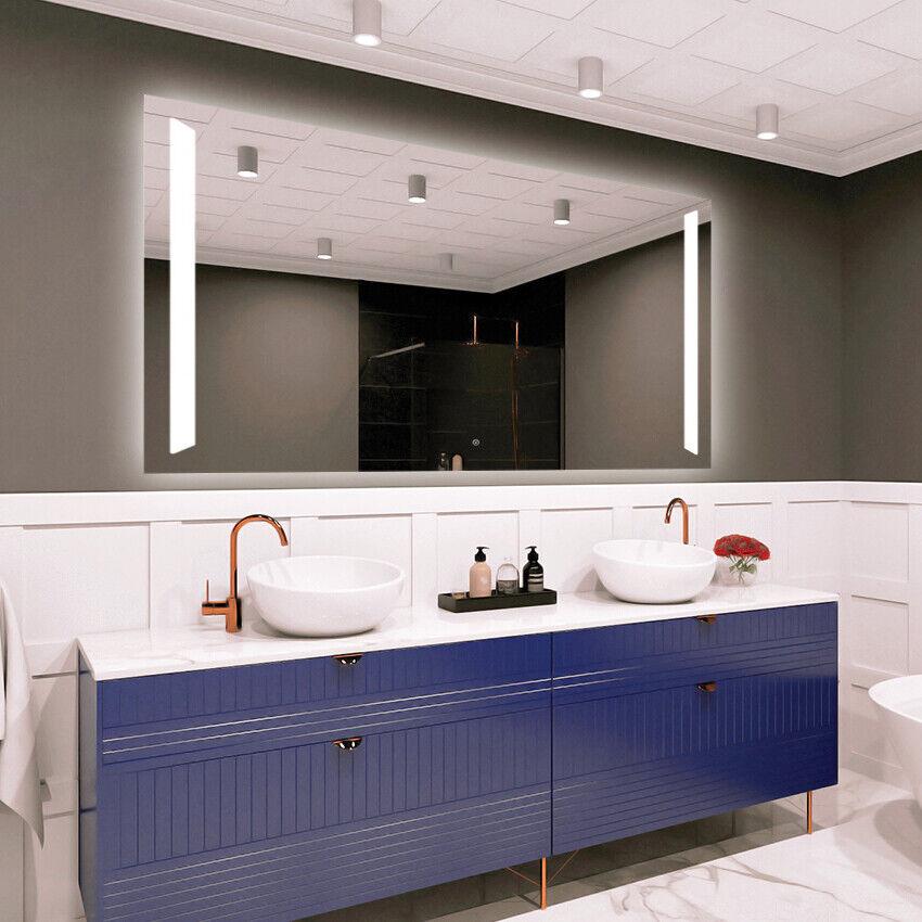 Miroir Salle De Bain Lumineux LED   Interrupteur tactile  Moderne DELUXE M1ZD-09