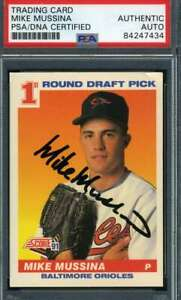 Mike Mussina PSA DNA Coa Autograph 1991 Score Rookie Hand Signed