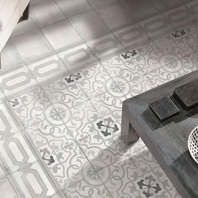 Antique Grey Abbey Encaustic Effect Patterned Moroccan ...