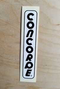 Set 6 Concorde Astore Bicycle Decals White Text Stickers Transfers