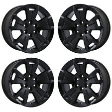 Item 7 17 Chevrolet Colorado Black Wheels Rims Factory Oem 2016 2017 2018 Set 5672