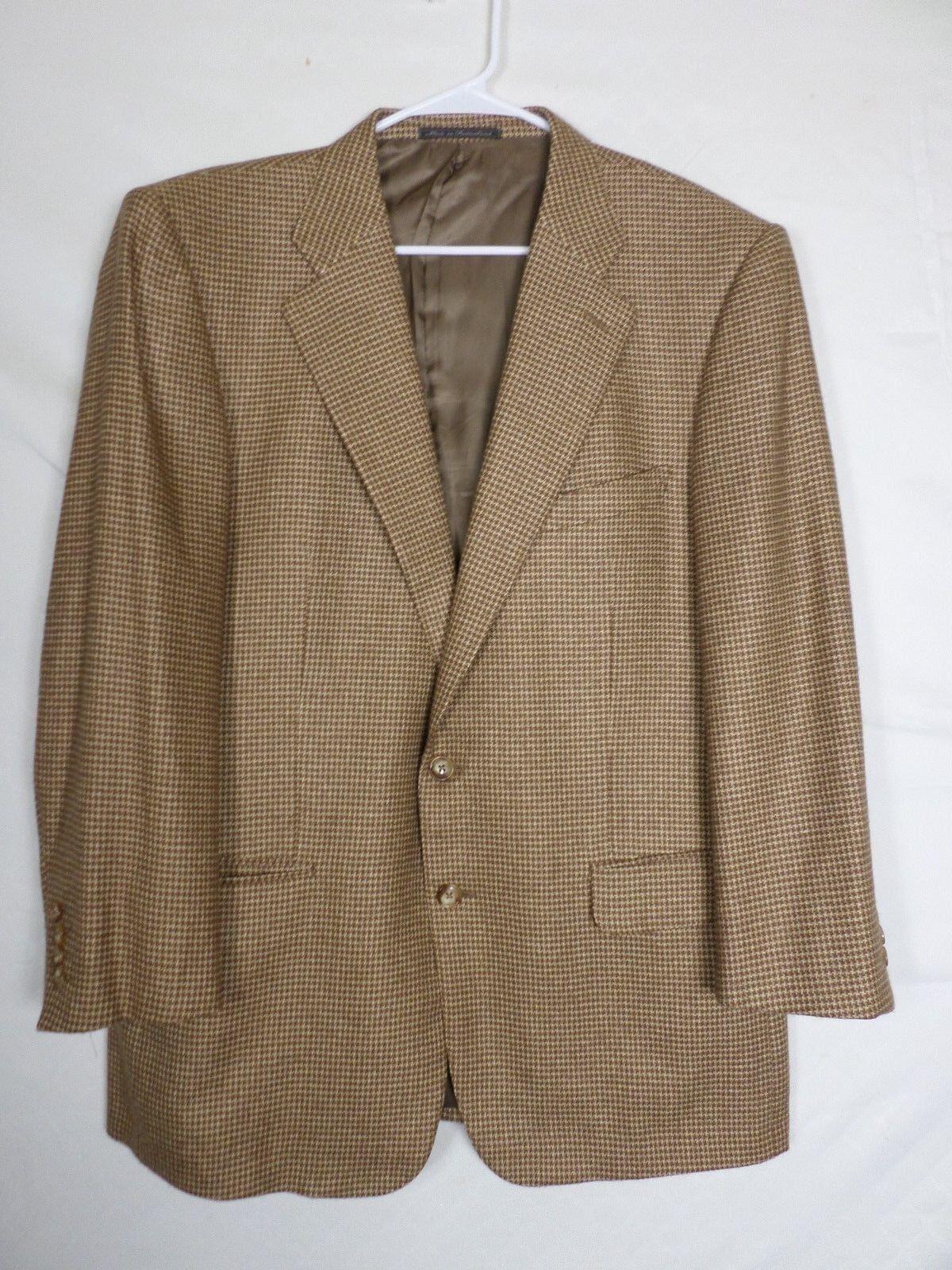 Ermenegildo Zegna Mens Sport Coat Blazer Size 42 Brown Two Button Silk Cashmere