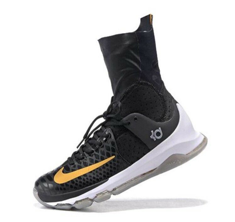 Nike KD 8 Elite Black Durant GOLD sz 10 Kevin Durant Black Warriors Celebration X Basketball df754c