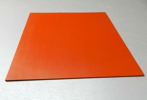 """Silicone Rubber Sheet High Temp Solid Red//Orange Commercial Grade 8/"""" x 8/"""" x 1//8/"""""""