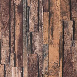 Dekostoff Holzbretter Holzoptik Canvas braun
