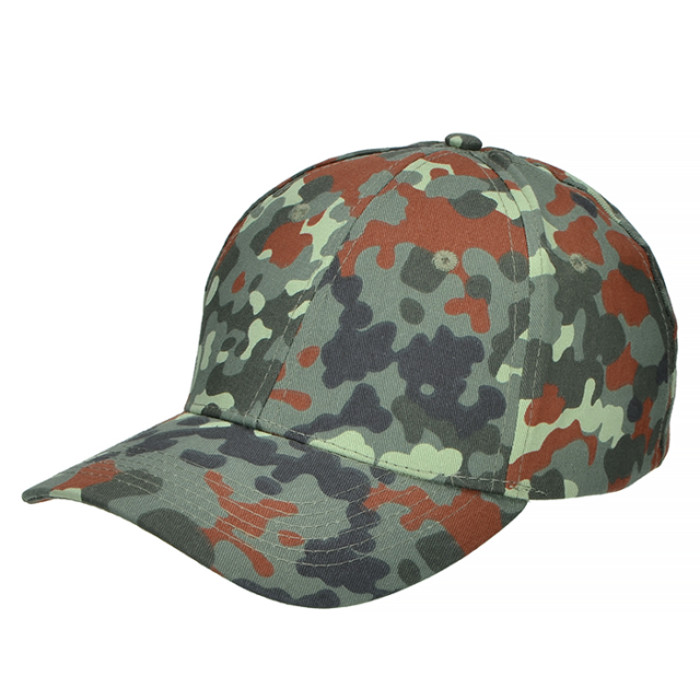 Mil-Tec Baseball Cap Adjustable - Mens Women - Casual Hunting Airsoft Flecktarn