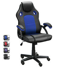 Ergonomic Gaming Racing Chair Computer Executive Office Desk Seat Swivel Recline