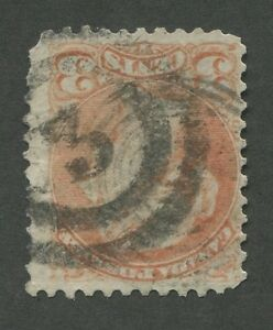 CANADA-37-USED-SMALL-QUEEN-2-RING-NUMERAL-CANCEL-034-3-034
