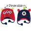 Flapjackkids Reversible Baby Kids Winter Hats UPF 50+Boy Girl Embroidery Beanies