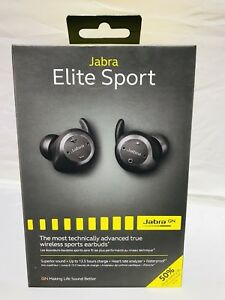 a800f31f54c Jabra Elite Sport In-Ear Noise Cancelling Wireless Earbuds-Black New ...