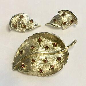 Antique Gold Leaf Topaz Set