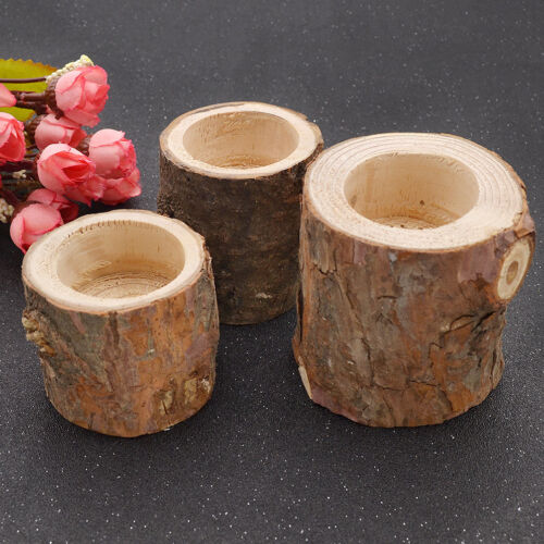 Wooden Candle Holder Candlestick Stand Tree Branch Rustic Home Decor Vintage 1pc