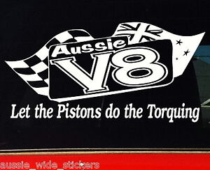 Aussie-V8-For-Ford-Holden-BNS-Ute-accessories-Funny-Car-Stickers-200mm