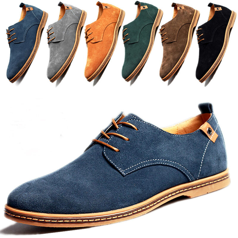 Details About European Style Comfort Casual Shoes Men Suede Leather Size 7 5 14 Rd