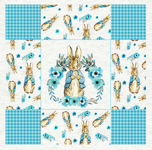 Beatrix Potter Blue Peter Rabbit Digital Cotton Fabric,110cm wide-Per Metre