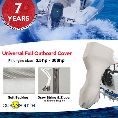 Outboard Motor Cover Gray Evinrude Suzuki Yamaha Universal for Mercury 600D Heavy Duty Waterproof Trailerable Boat Engine Cover