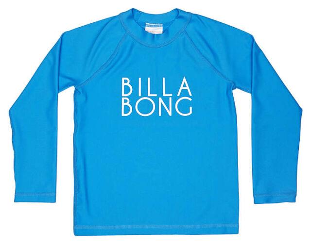 NEW BILLABONG GIRLS (2) WET SHIRT RASHIE RASH VEST BEACHY DAYZ BLUE LONG SLEEVE