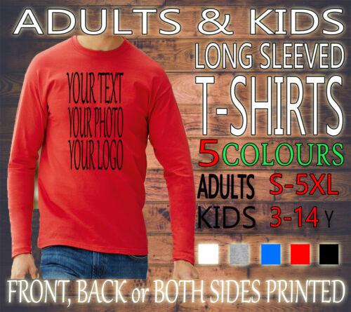 Personnalisé Hommes Femme STAG HEN enfants à manches longues Tee T-shirt New Custom