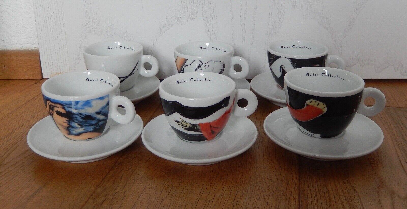 Amici Illy Andrea Manetti 6 Cappuccino Tasses 2004 TOP