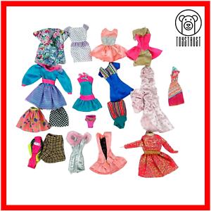 Barbie Clothes Bundle Job Lot Vintage Dresses Skirt Outfit Swimsuit Official 90s Ebay