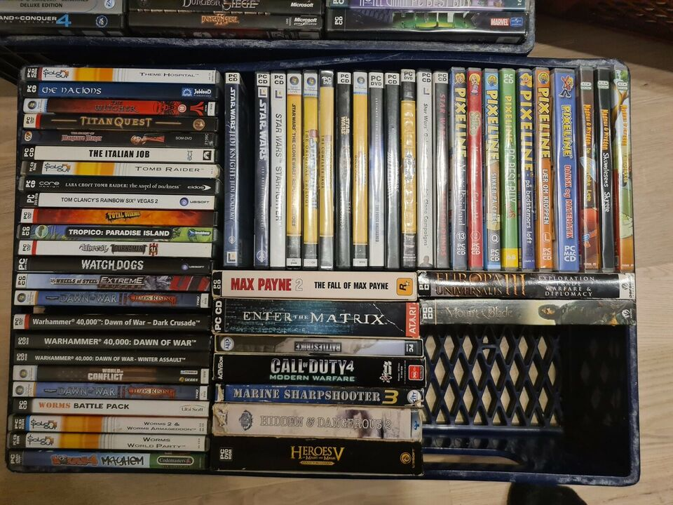 Might and magic, age of empires, command and conqu