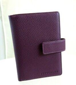 Details about Longchamp Veau Foulonne Address and Agenda Book NEW 3338 Deep  Purple MSRP$208