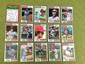 1974-TOPPS-BASEBALL-CHICAGO-WHITE-SOX-COMPLETE-TEAM-SET-31-RON-SANTO-GOSSAGE