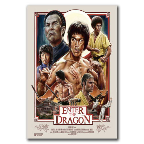 24x36 40in ENTER THE DRAGON Movie TV Show Poster Hot Gift E3158 Art Bruce Lee