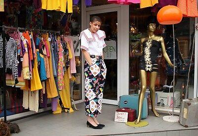 Zaffiri Donna Pantaloni Tessuto Pantaloni Bandiere 90er True Vintage 90's Cloth Trousers-mostra Il Titolo Originale Fissare I Prezzi In Base Alla Qualità Dei Prodotti