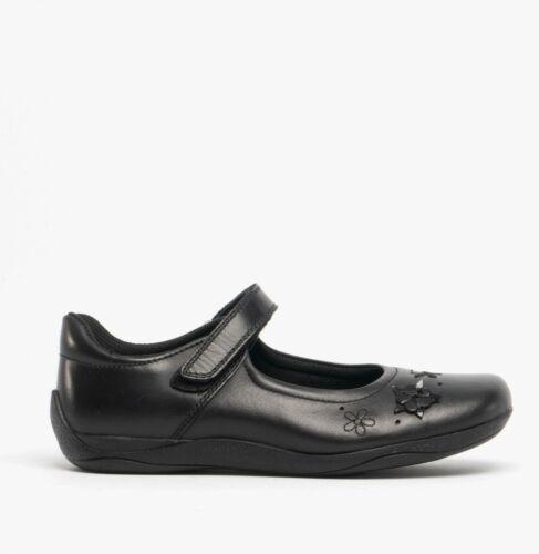 Hush Puppies Candy Jnr Filles Cuir Confortable Classique Mary Jane École Chaussures Noir