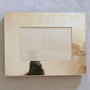 * Picture Frame Photo Metal Silver Plate BABY Mothers Day BURNES BOSTON 5.5X3.5